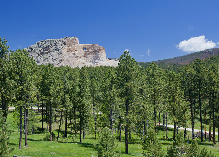 The Crazyhorse Monument.