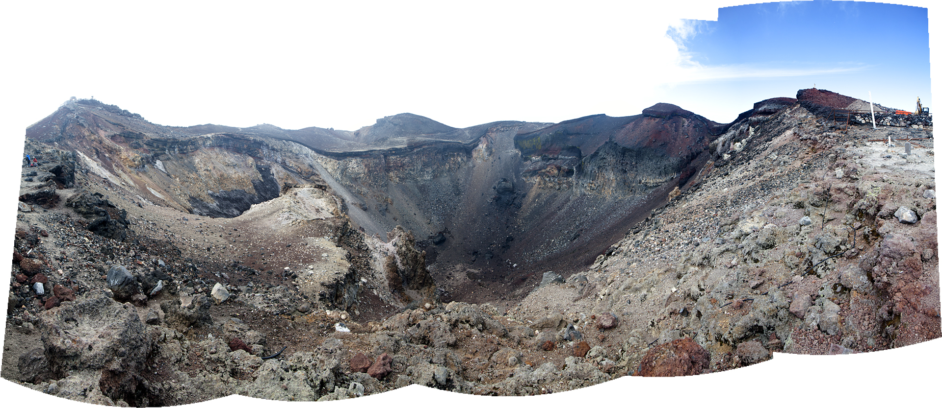A panorama of the crater at the top